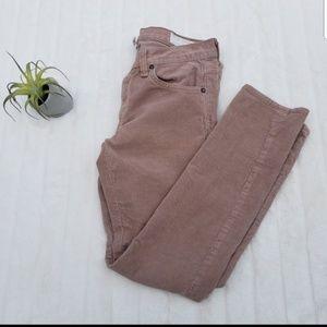 Rag & Bone ankle cropped corduroy jeans size 25